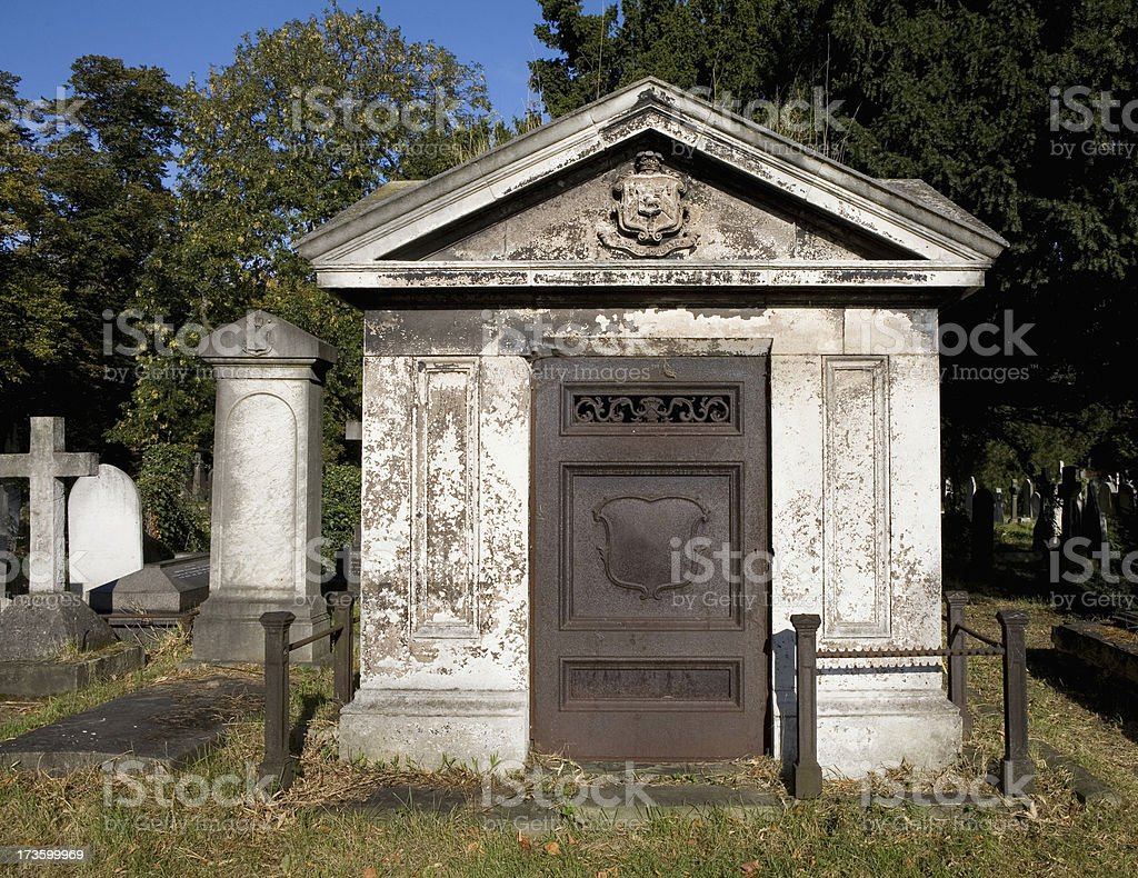Old Mausoleum in London England stock photo