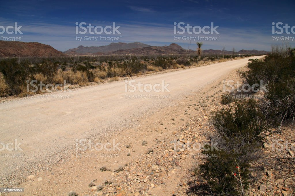 Old Maverick Road stock photo