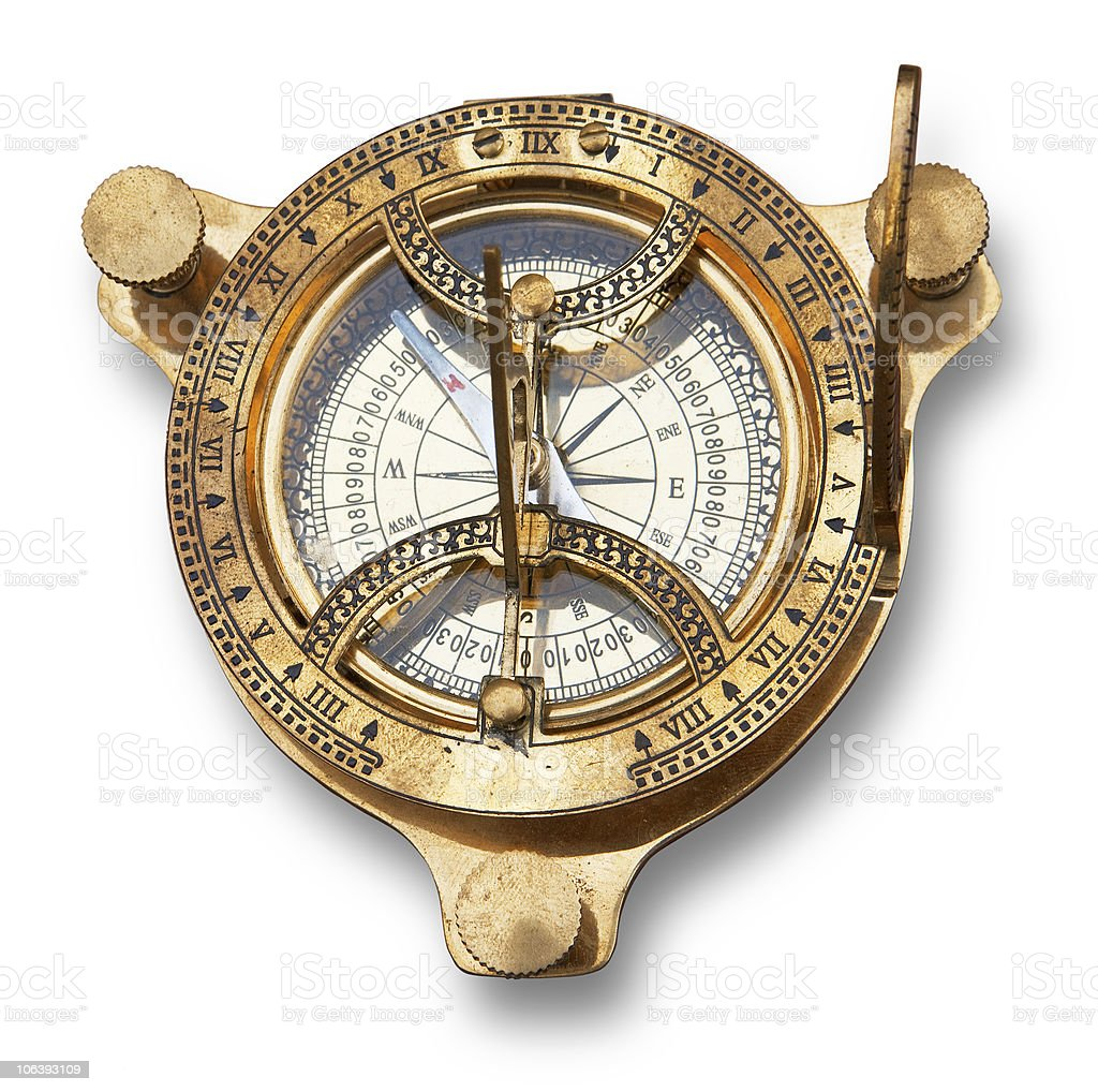 Old measuring instrument for navigation royalty-free stock photo