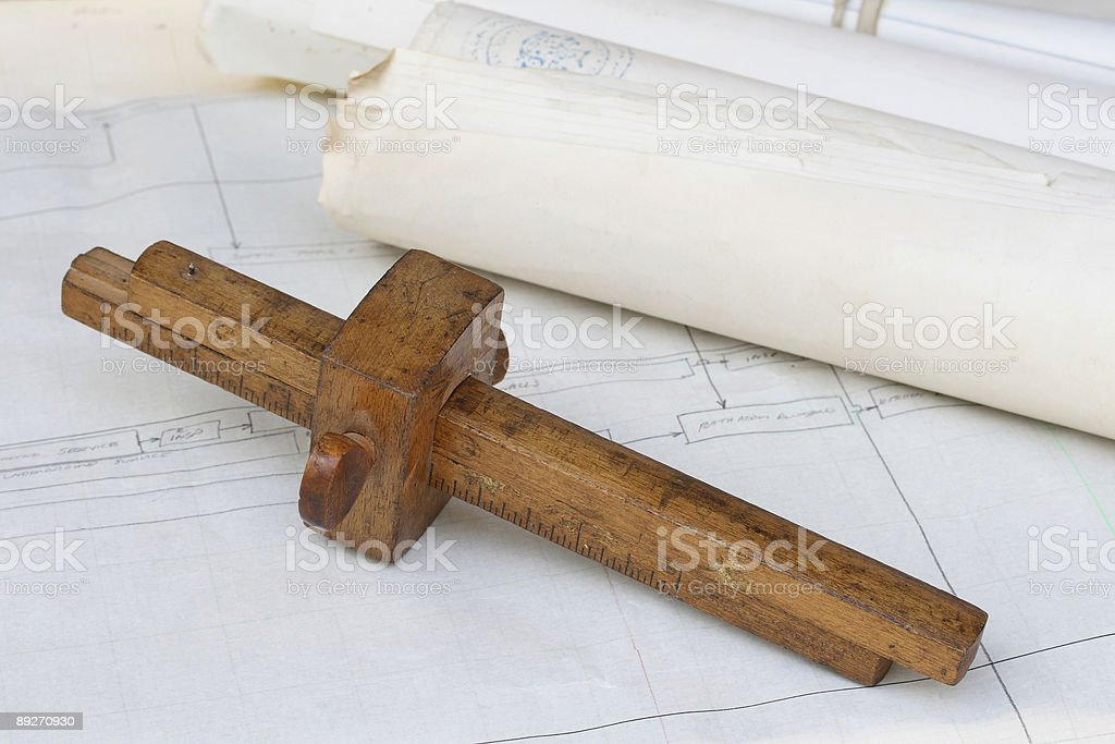 Old Measuring Tool royalty-free stock photo