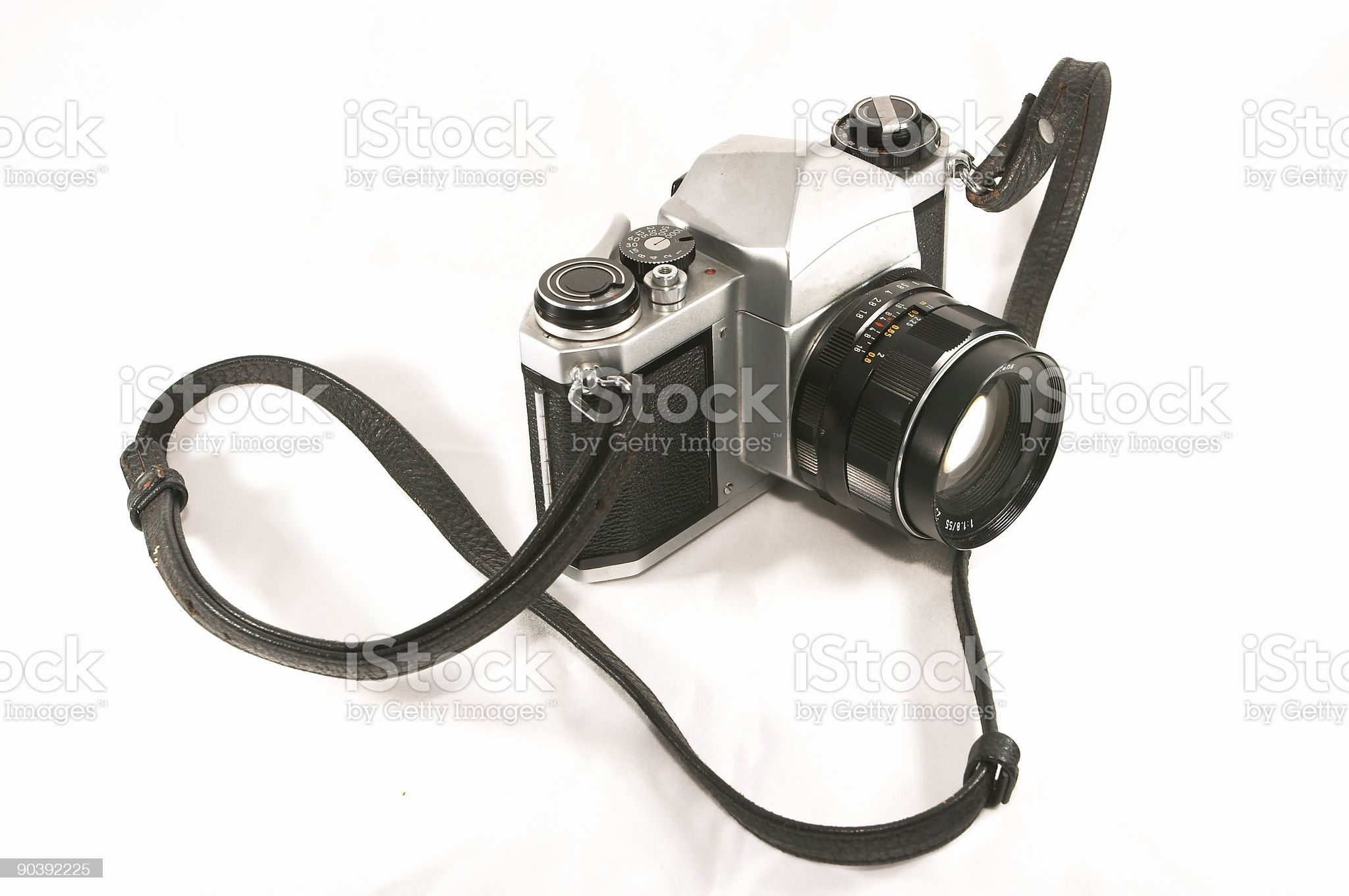 Old mechanical camera royalty-free stock photo