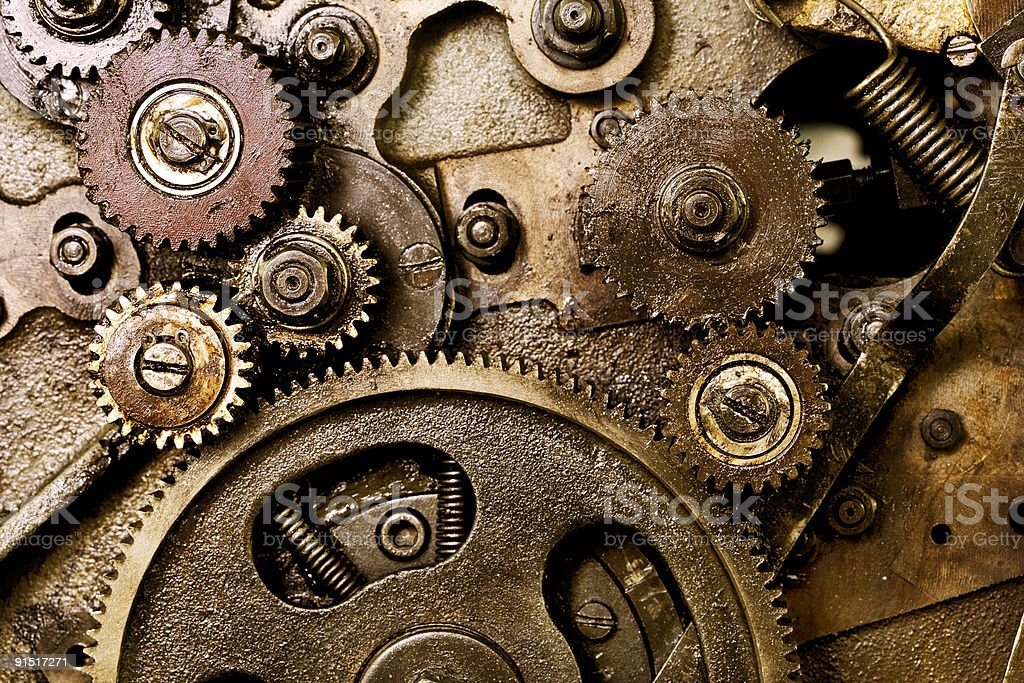 Old mechanism stock photo