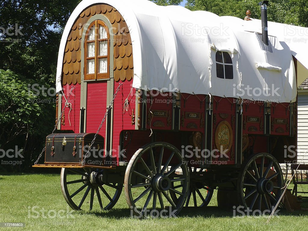 Old medicine wagon royalty-free stock photo