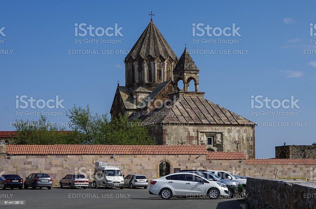 Old medieval armenian church of  Gandzasar monastery, Nagorno-Karabakh Republic stock photo