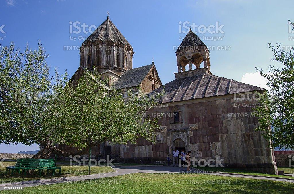 Old medieval armenian church of  Gandzasar monastery stock photo