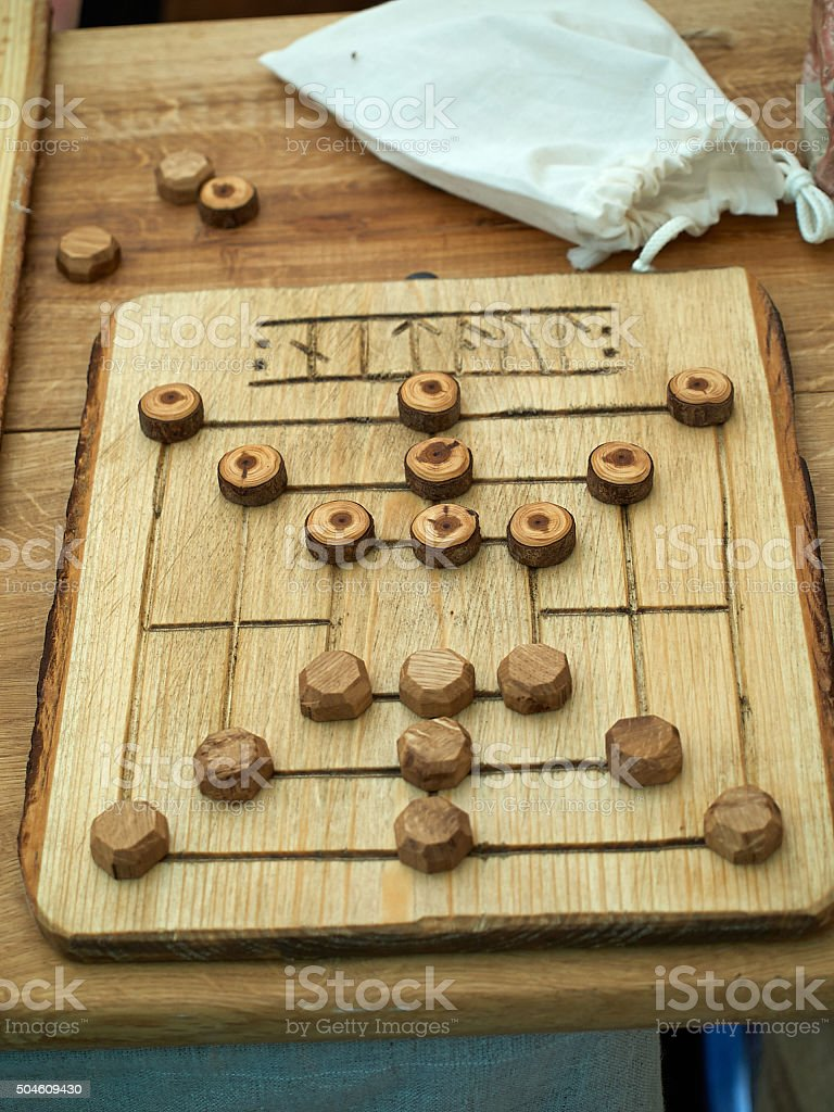 Old Medieval board game stock photo