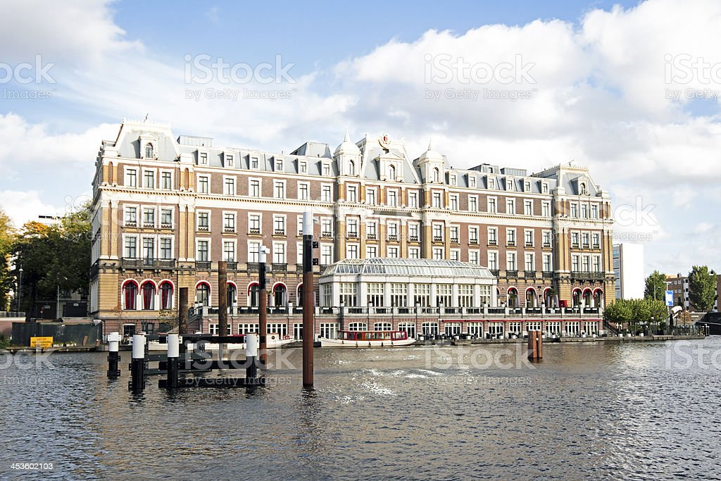 Old medieval building in Amsterdam the Netherlands royalty-free stock photo