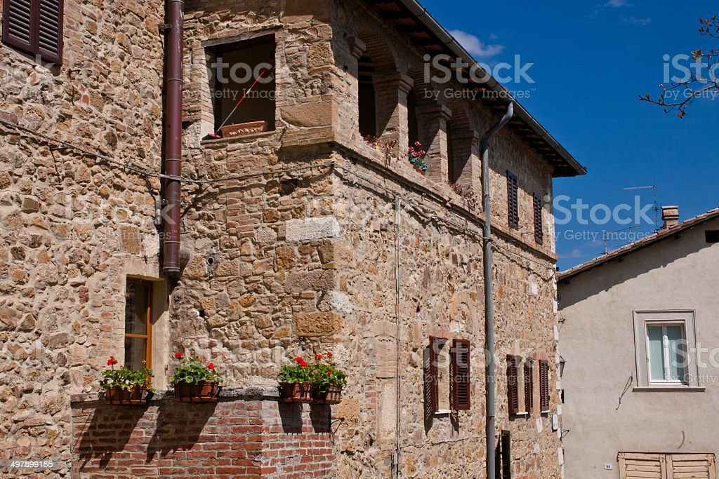 Old medieval building stock photo
