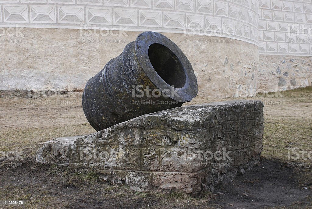 Old Medieval Cannon royalty-free stock photo