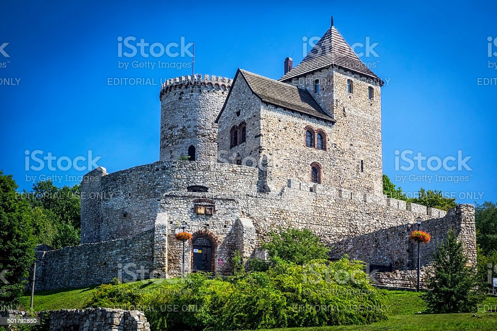 Old medieval castle, Bedzin, Poland stock photo
