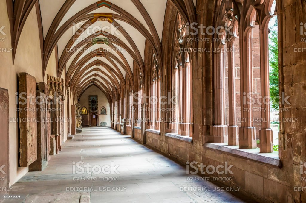 old medieval courtyard of the former stephan dome cloister stock photo