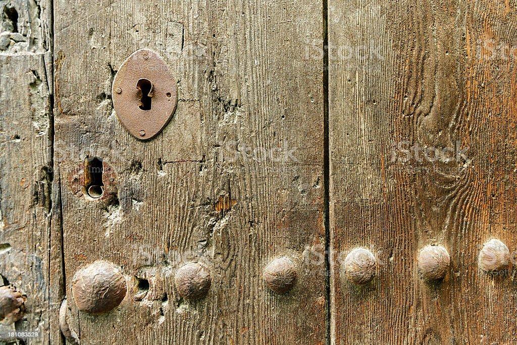 Old medieval ornate door lock royalty-free stock photo