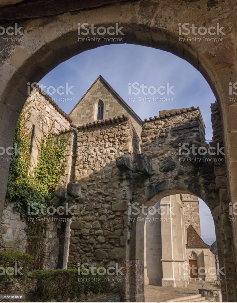 Old medieval town of Rapperswil, Switzerland stock photo