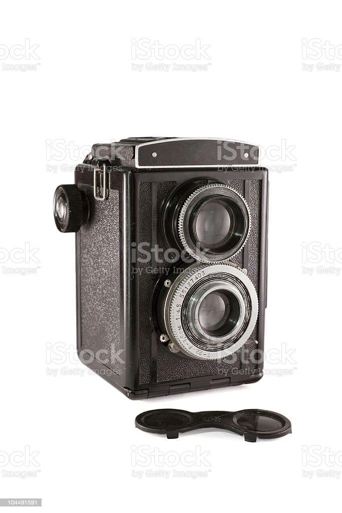 Old medium format photo camera royalty-free stock photo