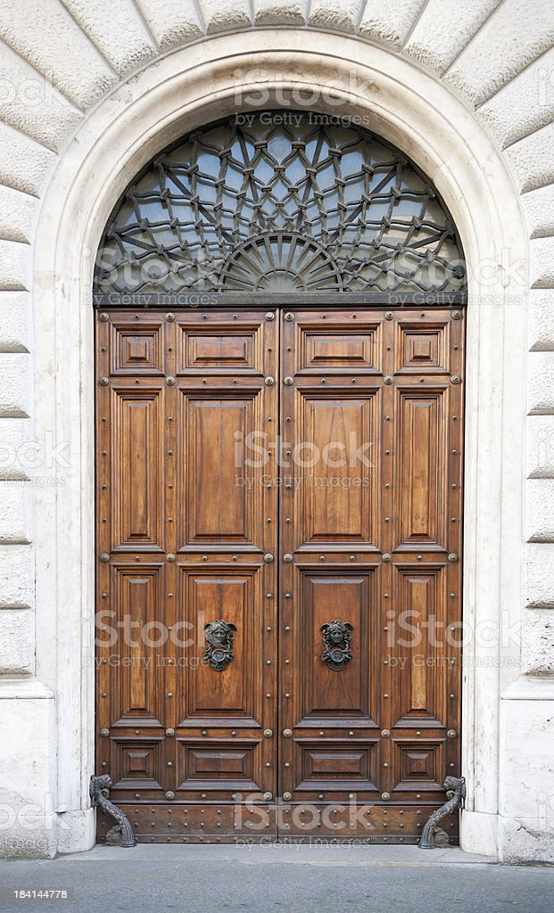 Old Medusa Door in Rome stock photo