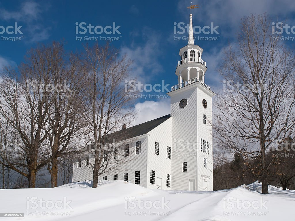 Old Meeting House, Strafford Vermont stock photo