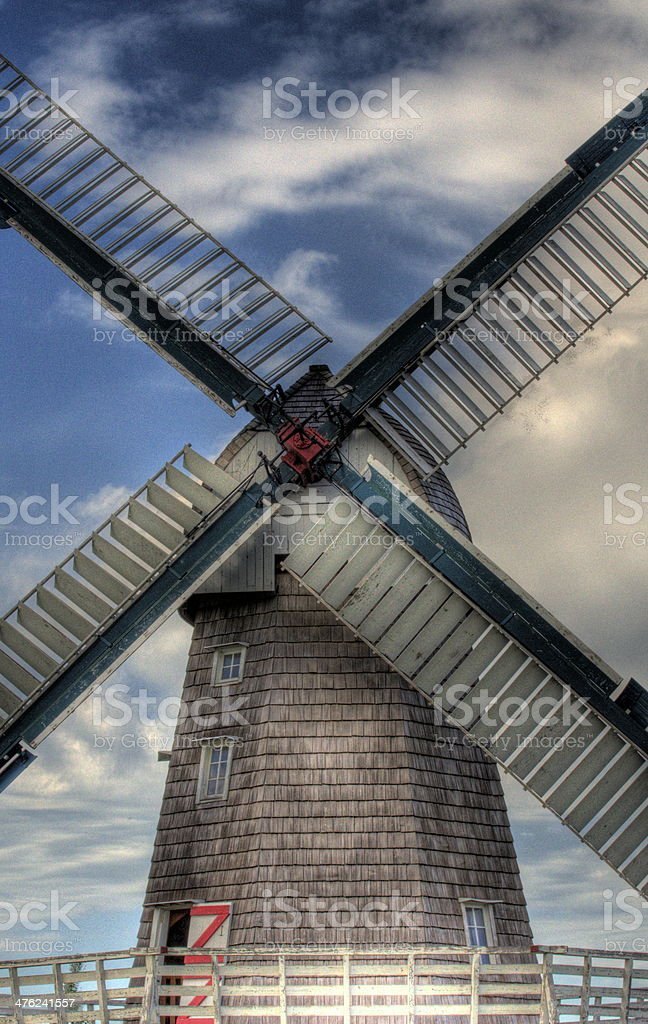 Old mennonite wind mill of Steinbach Manitoba Canada royalty-free stock photo