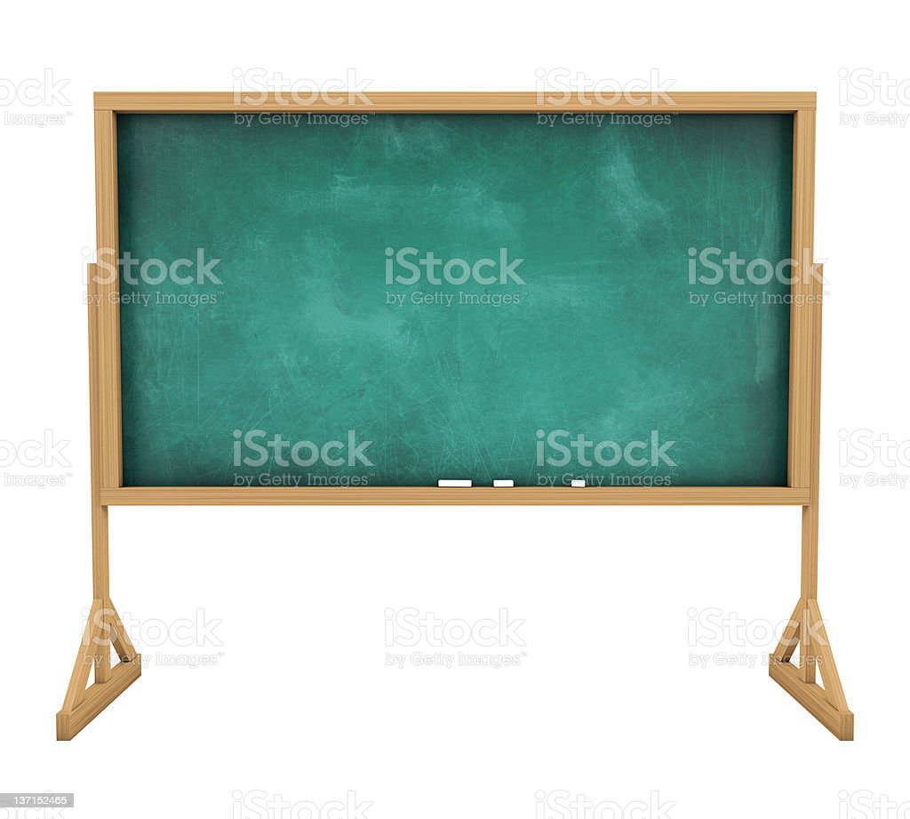Old messy blank blackboard royalty-free stock photo