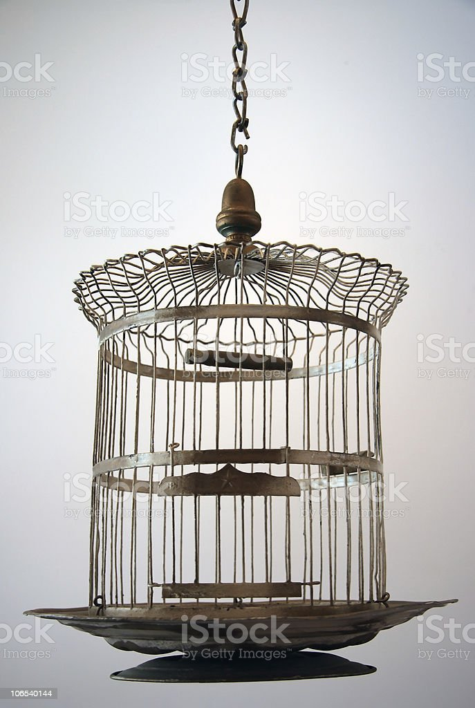 Old Metal Bird Cage royalty-free stock photo