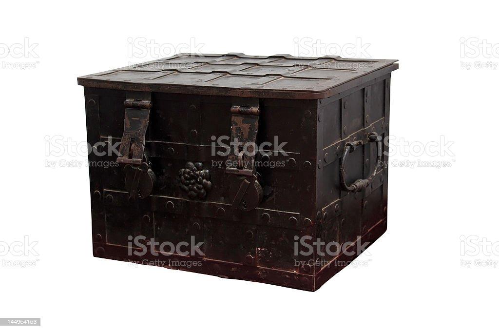 Old metal box royalty-free stock photo
