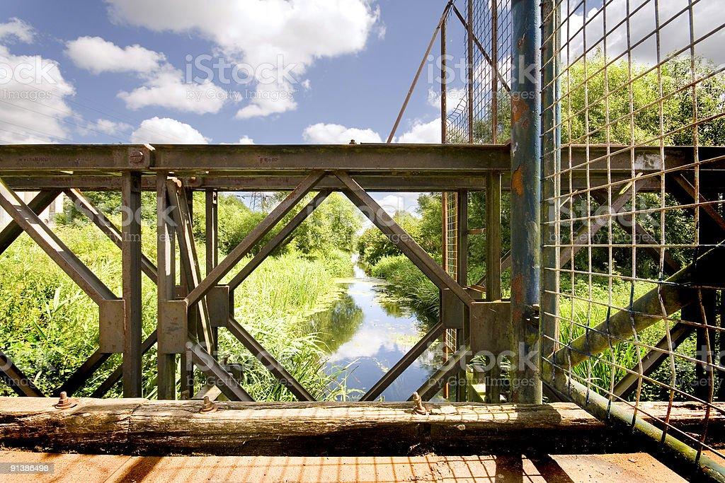 Stare metalowe Most zbiór zdjęć royalty-free