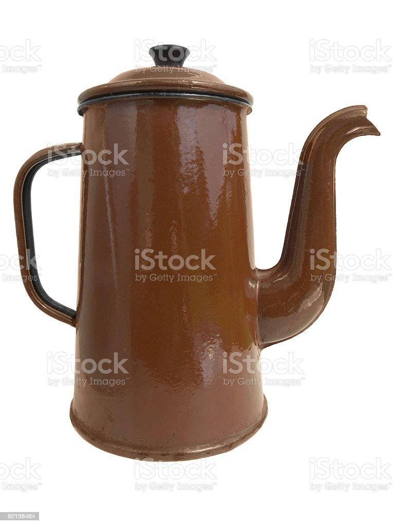 Old metal coffee pot royalty-free stock photo