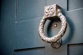 Old metal door knocker