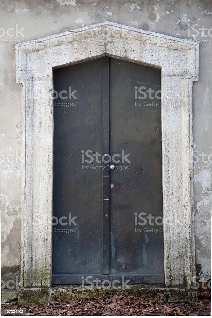 old metal door royalty-free stock photo