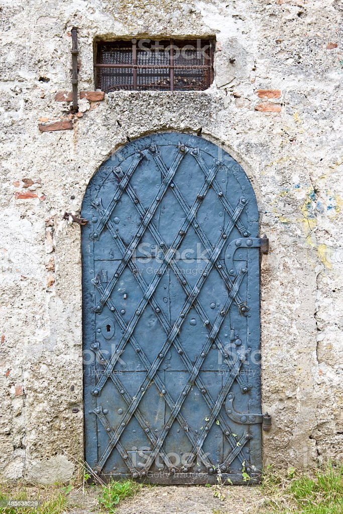 Old metal door royalty-free stock photo