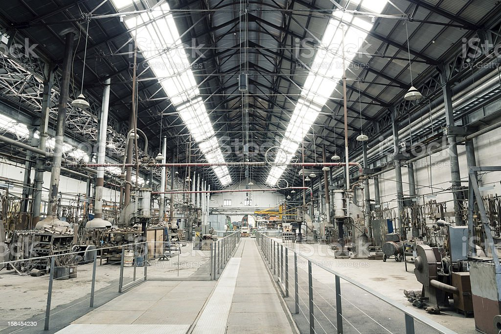 Old Metal Factory View royalty-free stock photo