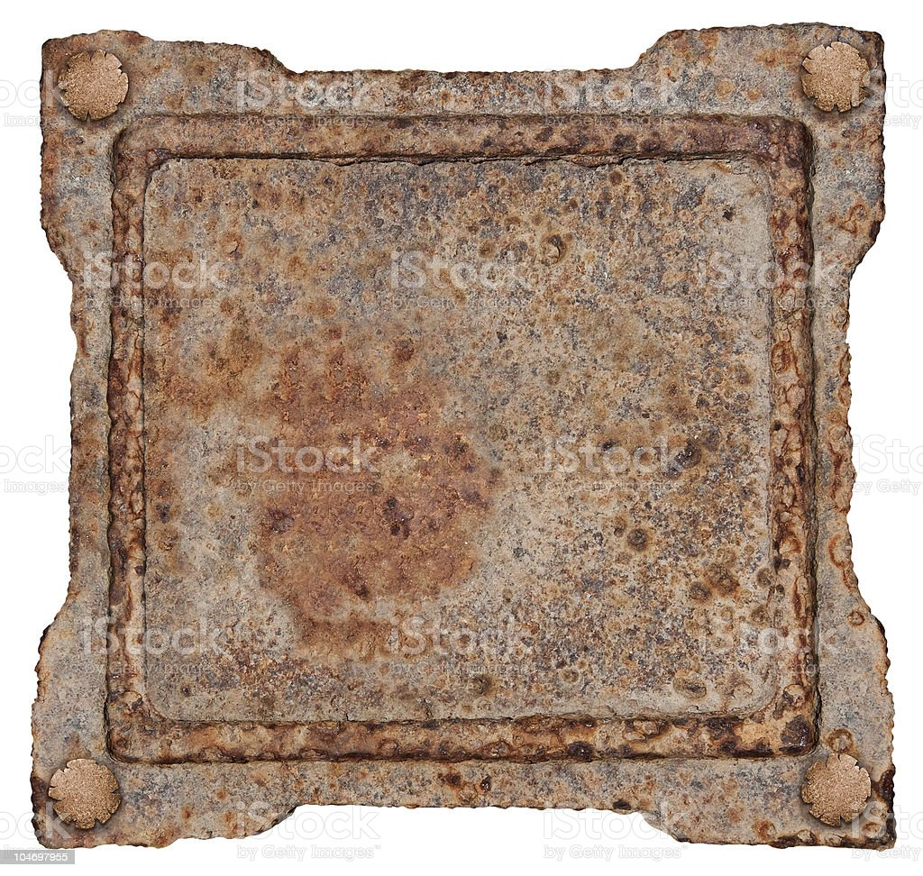 Old Metal Frame, isolated on white background. royalty-free stock photo