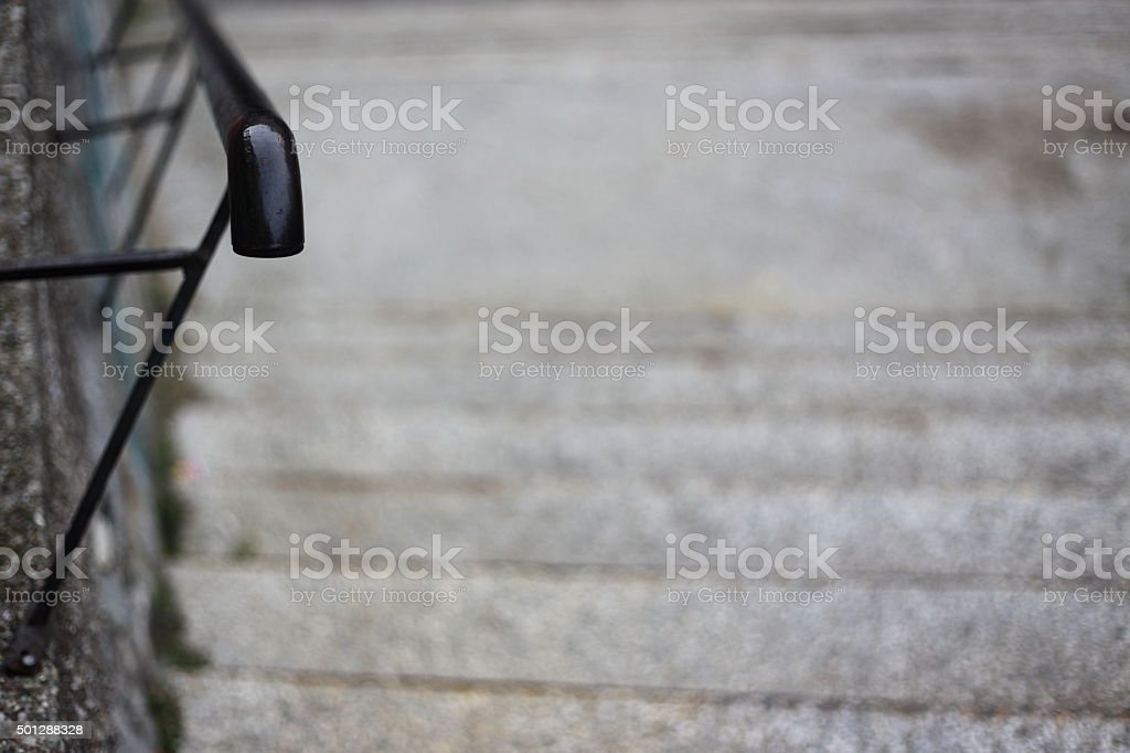 old metal handrail royalty-free stock photo