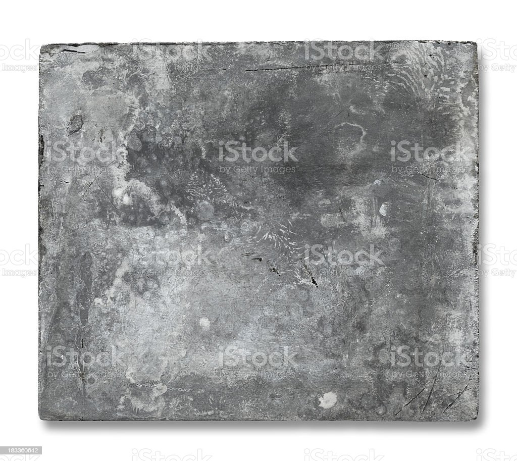 Old Metal Plate royalty-free stock photo