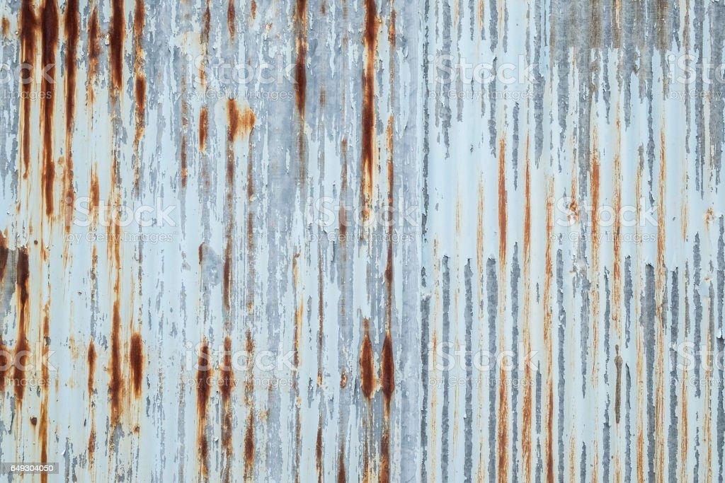 Old metal sheet roof texture. Pattern of old metal sheet. stock photo