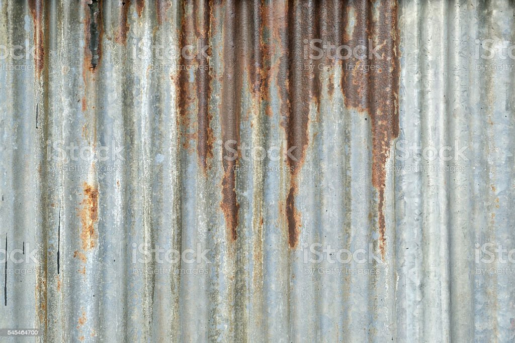 Old metal sheet roof texture stock photo
