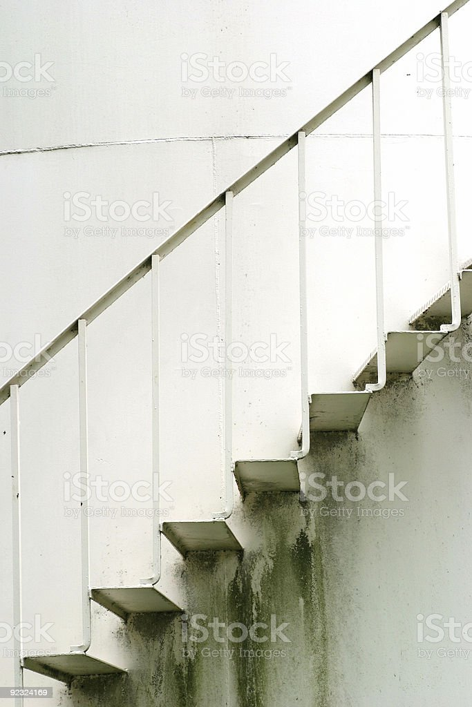 Old Metal Stairs 1 royalty-free stock photo