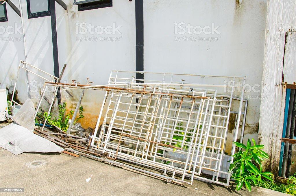 Old Metal Trsh stock photo