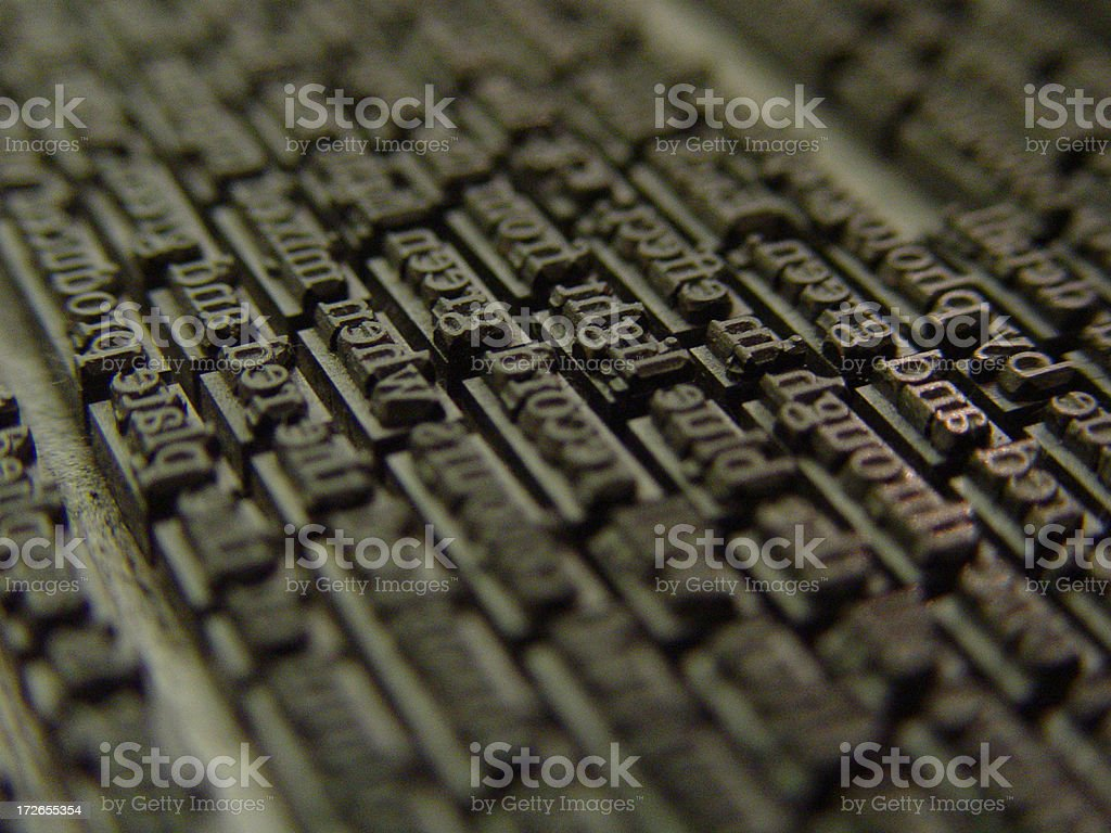 Old Metal Type stock photo