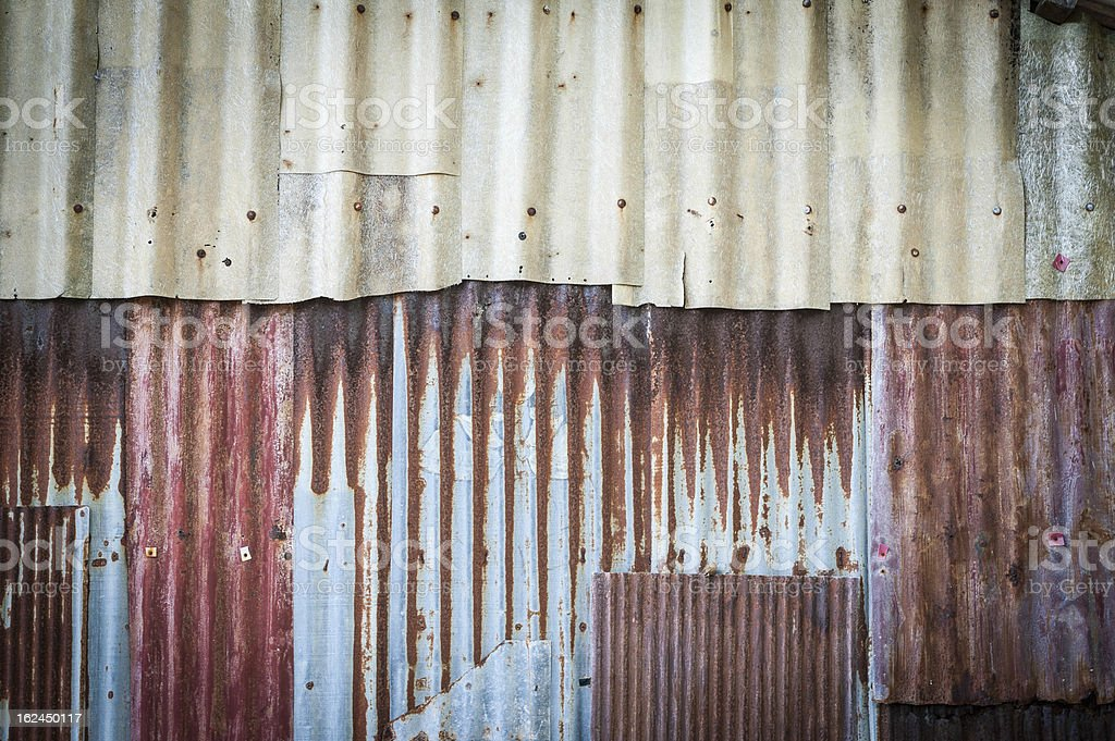 old metal wall royalty-free stock photo
