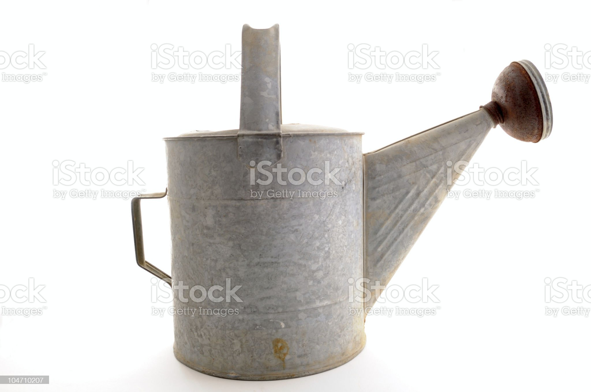 Old Metal Watering Can royalty-free stock photo