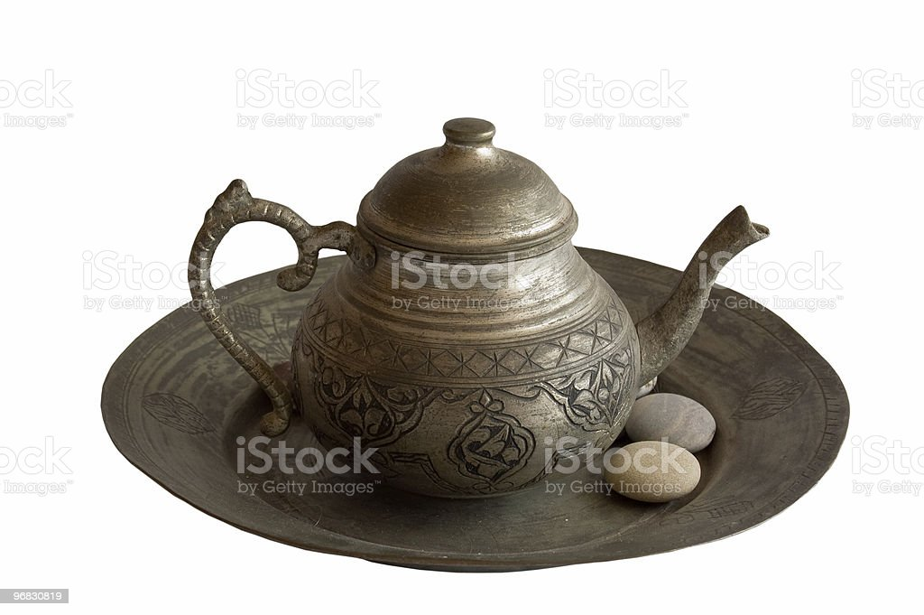 Old Metallic Tea Pot royalty-free stock photo