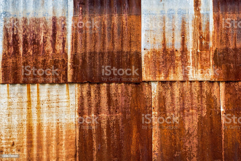 Old metalsheet wall stock photo