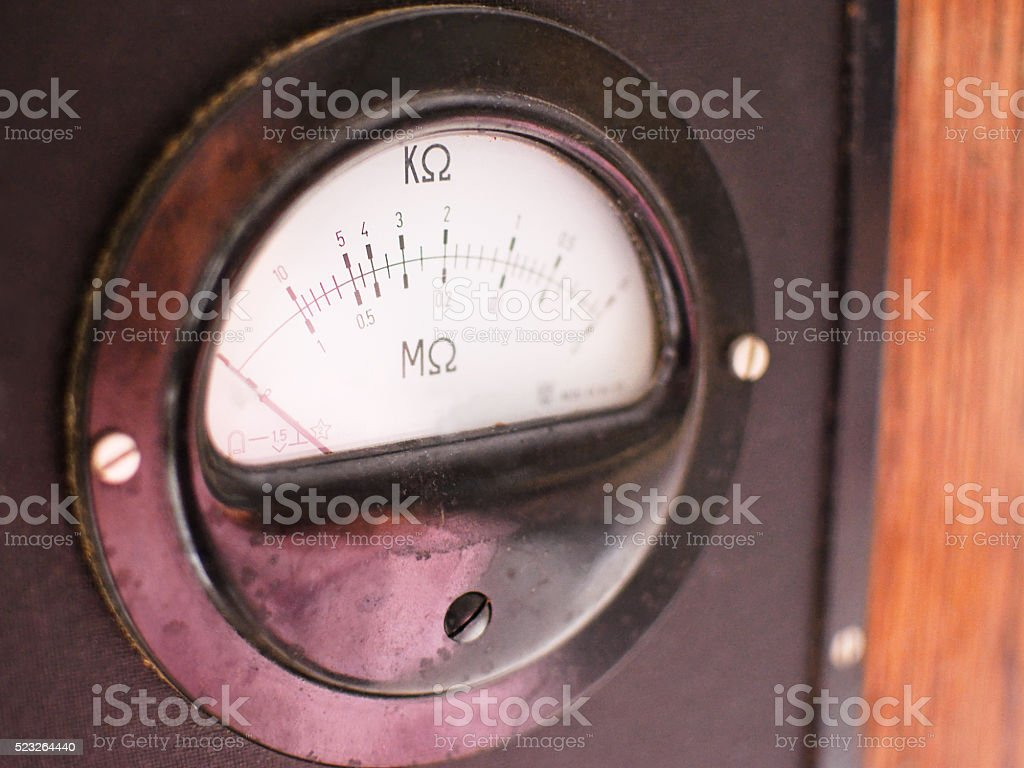 old meter resistance blurred stock photo