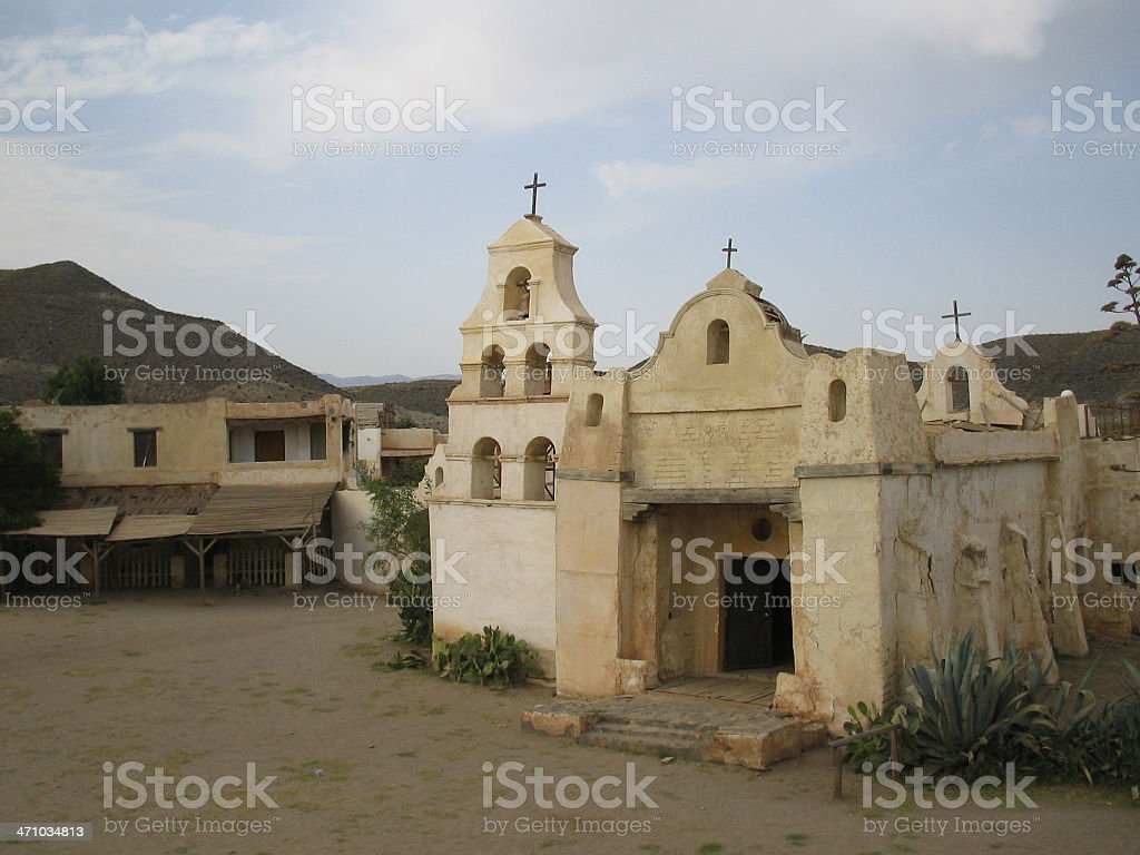 Old  Mexican Church...:::Far West Series'::.. royalty-free stock photo
