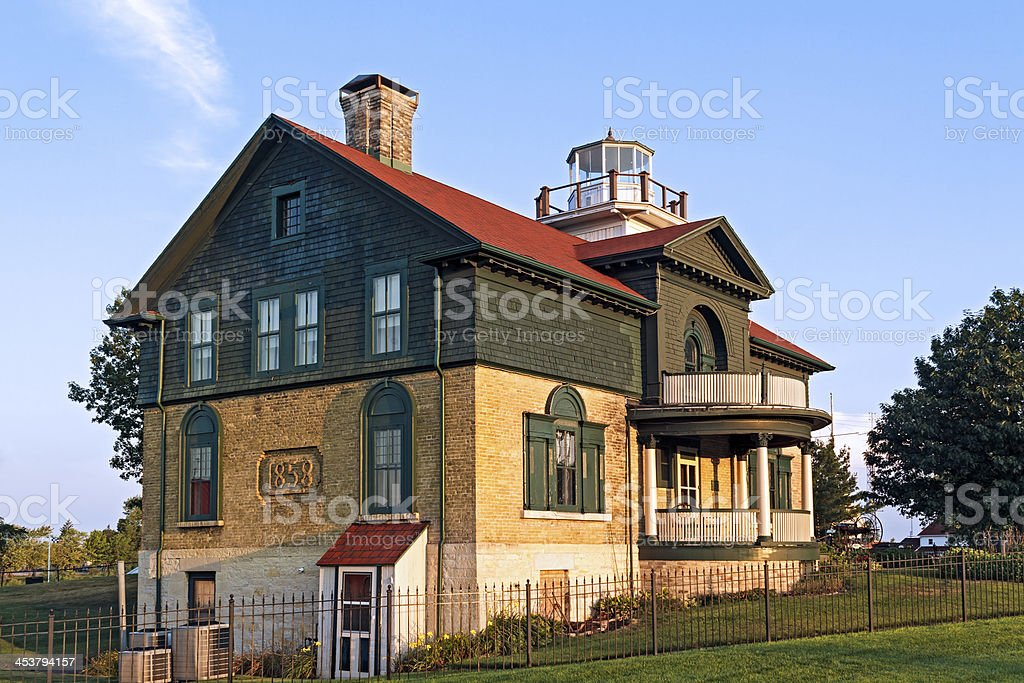Old Michigan City Lighthouse stock photo