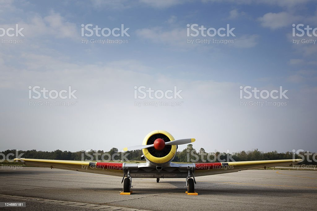 old Military Airplane stock photo