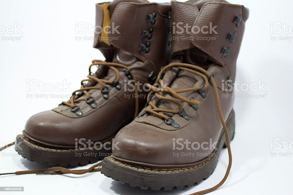 old military boots royalty-free stock photo