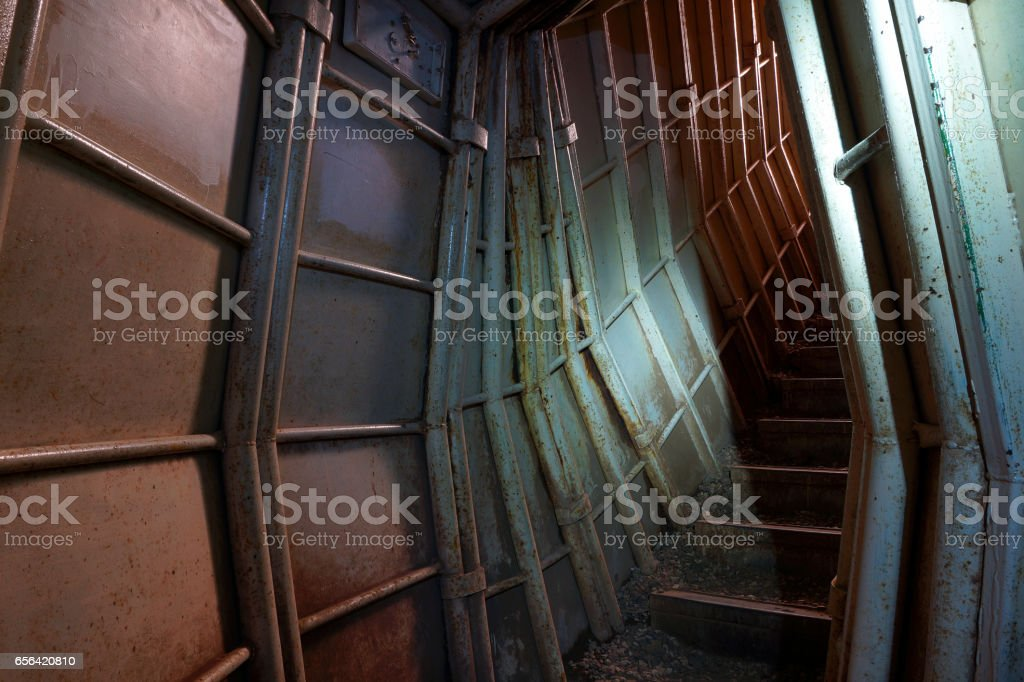 Old Military Bunker on Golan Heights stock photo