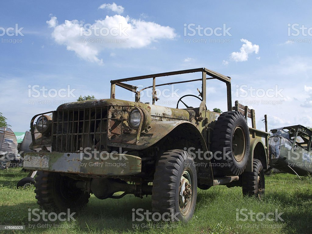 Old military car royalty-free stock photo