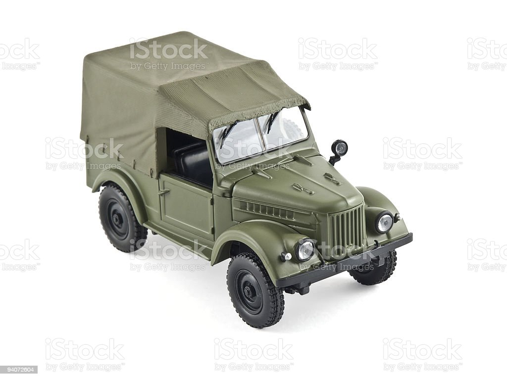 old military car stock photo